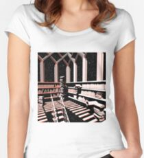 TIME AERIALS The Mind Library Women's Fitted Scoop T-Shirt