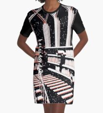 TIME AERIALS The Mind Library Graphic T-Shirt Dress