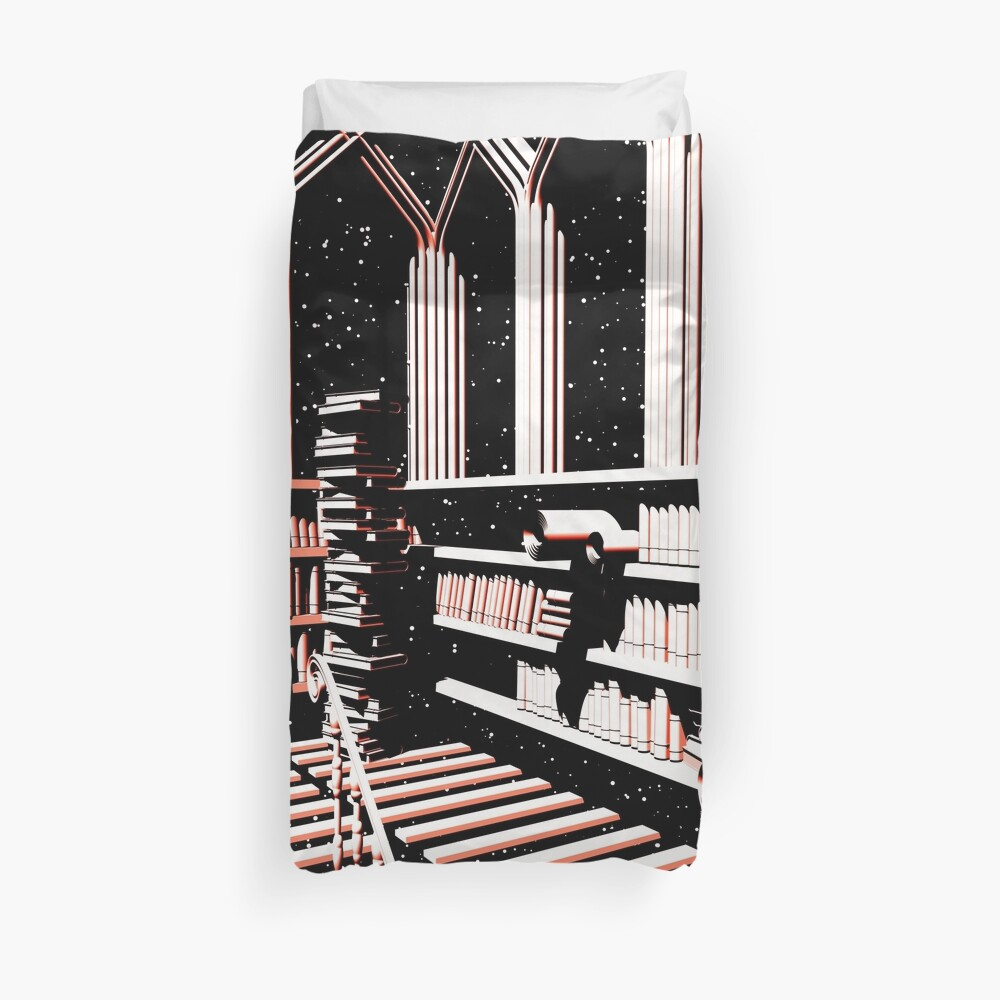 TIME AERIALS The Mind Library Duvet Cover