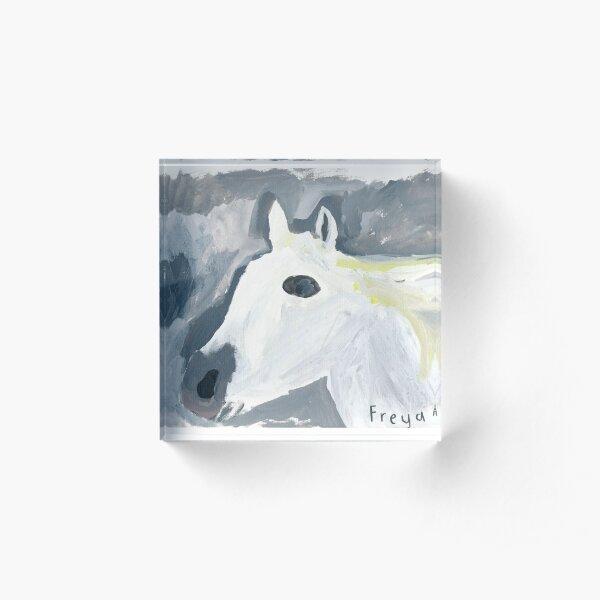 Horse by Freya Mathieson Acrylic Block
