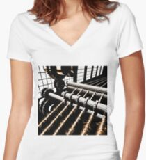 TIME AERIALS Industrial Revolutions Women's Fitted V-Neck T-Shirt