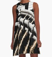 TIME AERIALS Industrial Revolutions A-Line Dress