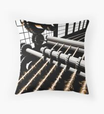 TIME AERIALS Industrial Revolutions Throw Pillow