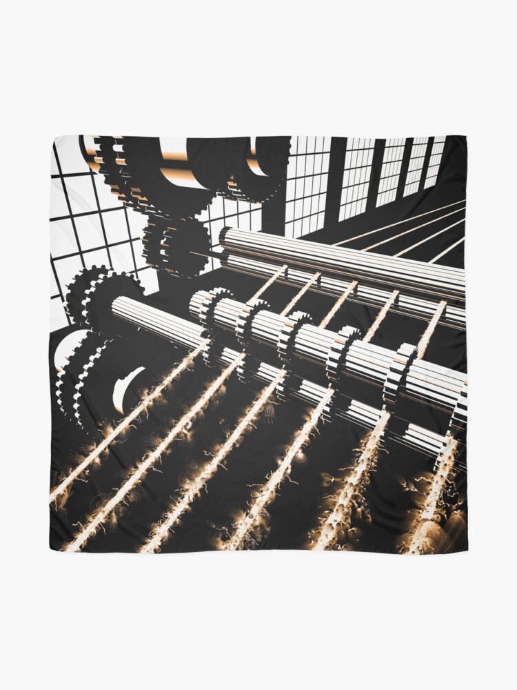 Alternate view of TIME AERIALS Industrial Revolutions Scarf