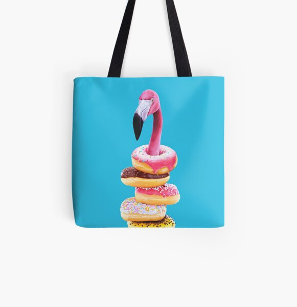 A Famished Flamingo All Over Print Tote Bag