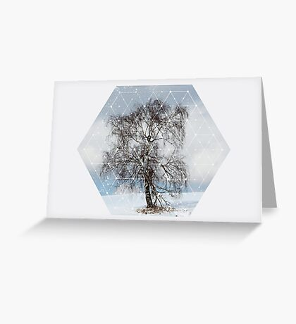 Nature and Geometry - The Sad Tree Greeting Card