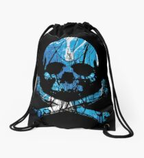 BLUE SKULL - ALCHEMINK Drawstring Bag