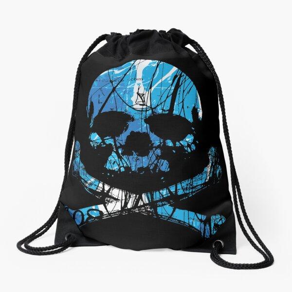 BLUE SKULL - ALCHEMINK Drawstring Bag