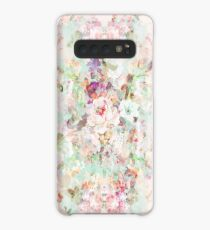 Pink watercolor vintage flowers pattern Case/Skin for Samsung Galaxy