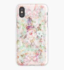 Pink watercolor vintage flowers pattern iPhone Case/Skin