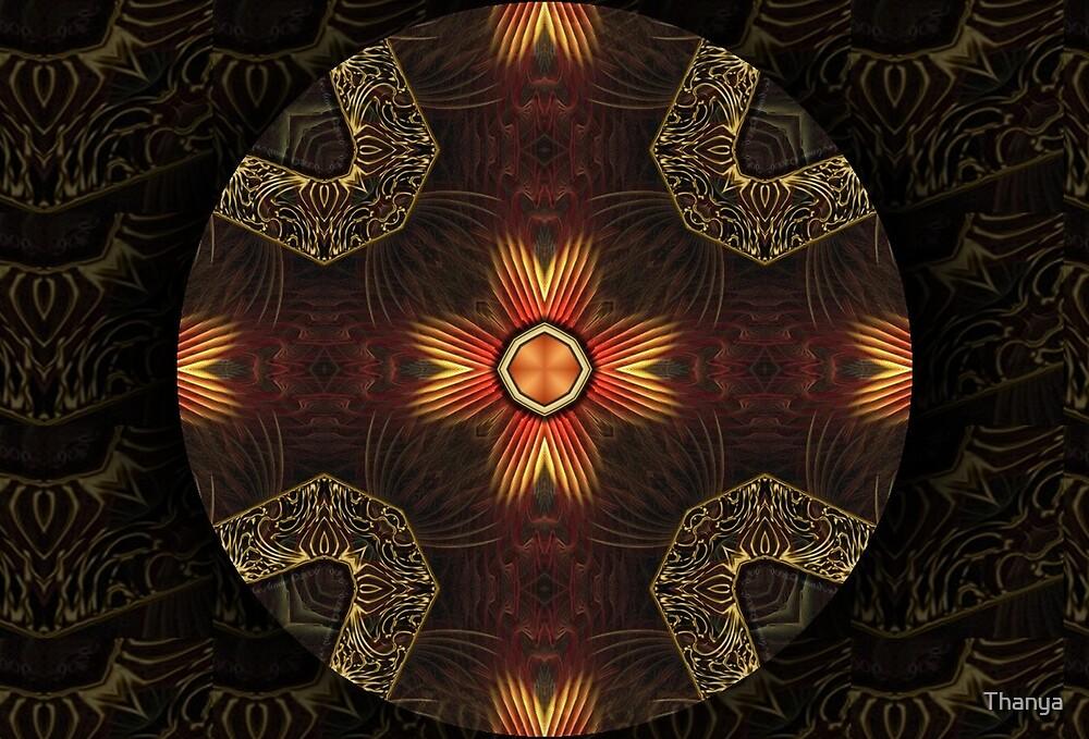 Oriental Mandala 3 by Thanya
