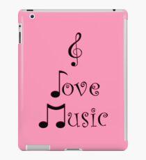 I Love Music - Punk Pink iPad Case/Skin
