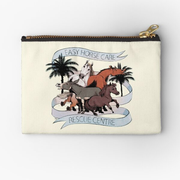 Easy Horse Care Rescue Centre by Cha Zipper Pouch