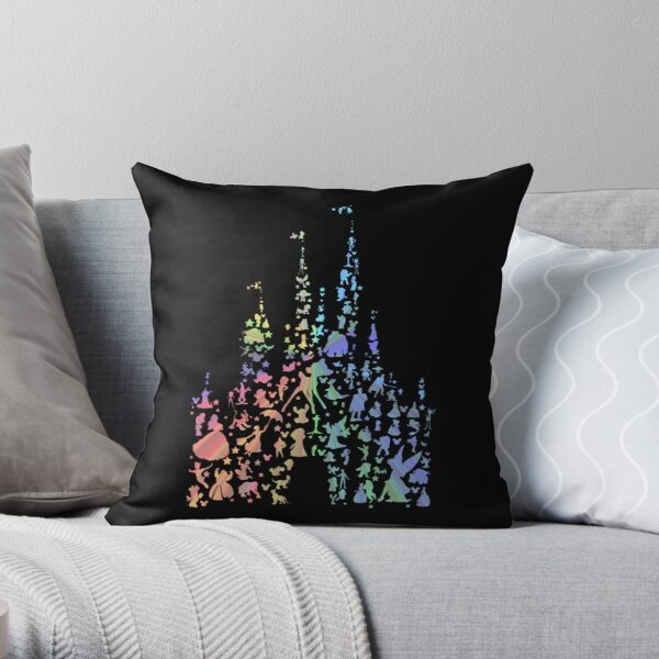 Happiest Castle On Earth (Rainbow Explosion) Throw Pillow