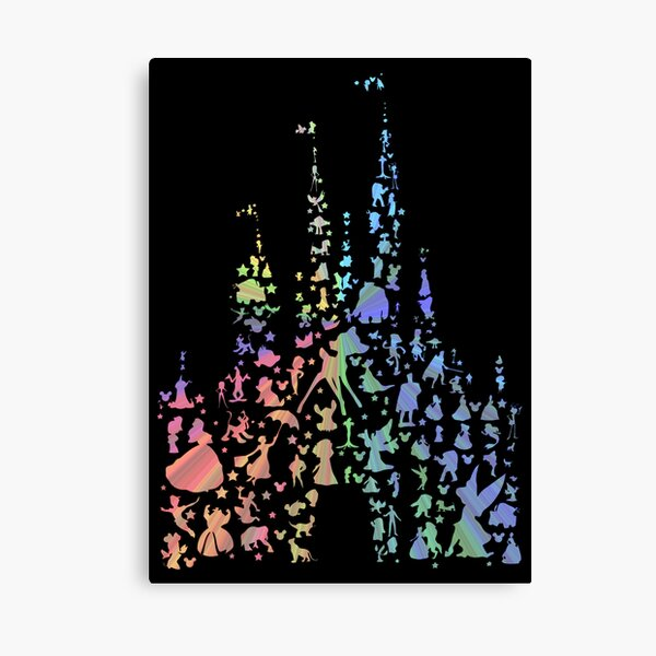 Happiest Castle On Earth (Rainbow Explosion) Canvas Print