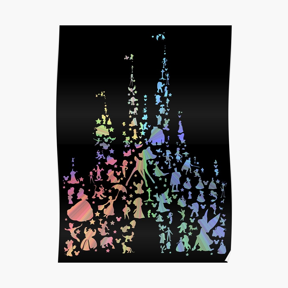 Happiest Castle On Earth (Rainbow Explosion) Poster