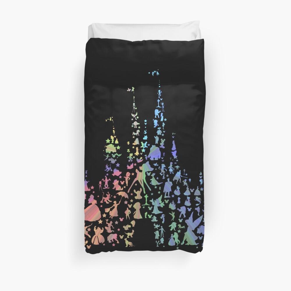 Happiest Castle On Earth (Rainbow Explosion) Duvet Cover