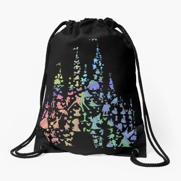 Happiest Castle On Earth (Rainbow Explosion) Drawstring Bag