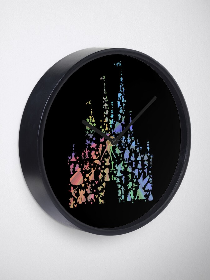 Alternate view of Happiest Castle On Earth (Rainbow Explosion) Clock