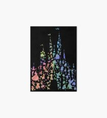 Happiest Castle On Earth (Rainbow Explosion) Art Board Print