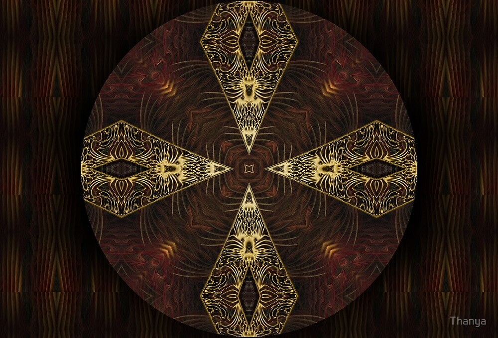 Oriental Mandala  by Thanya