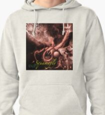 TIME AERIALS Squamafly Red with text Pullover Hoodie