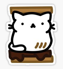 Marshmallow Bean: I am a toasted smore Sticker