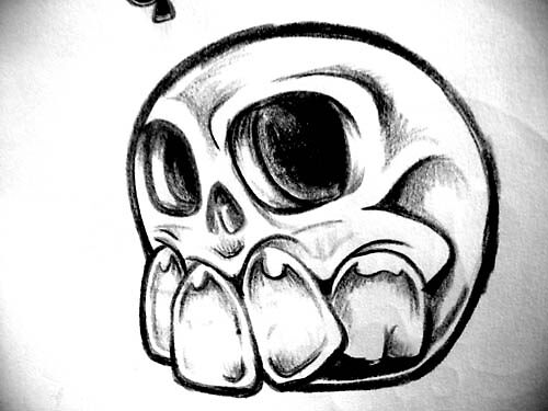 TATTOO DESIGNS BUBBLE SKULL by EDLFDESIGNS