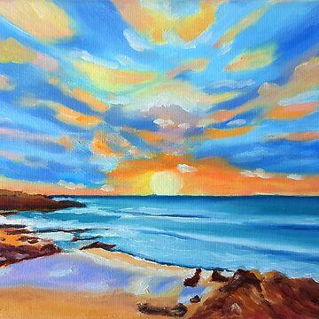 Guincho beach sunset by terezadelpilar