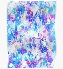 Abstract blues Poster