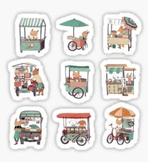 Food vans of Thailand Sticker