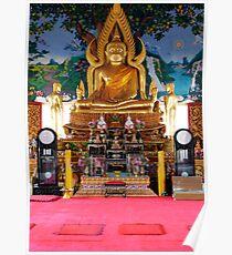 Gold Buddha Poster