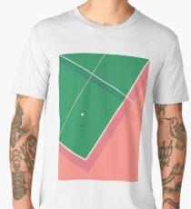 Table Tennis Ping Pong Table - Plain Salmon Men's Premium T-Shirt