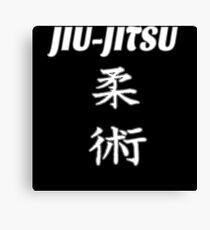Jiu-jitsu Kanji Canvas Print