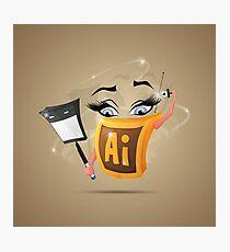 Fun Icon Adobe Illustrator Photographic Print