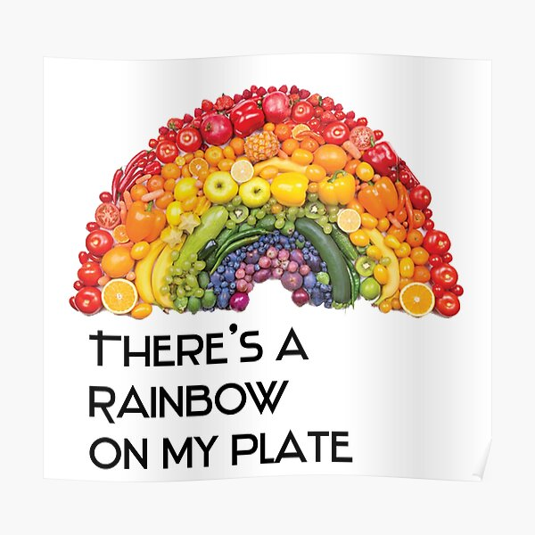 rainbow on my plate - fruits and vegetables  Poster