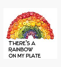rainbow on my plate - fruits and vegetables  Photographic Print