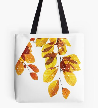 Nature and Geometry - Yellow Leaves  Tote Bag
