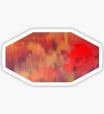 Landscape of dreaming Poppies  Sticker