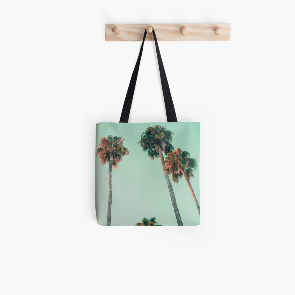 Palmen bei Sonnenuntergang Tote Bag