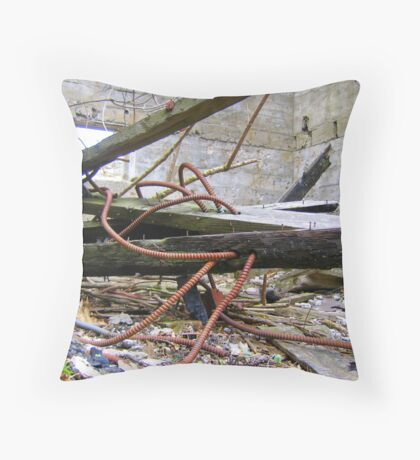 electronic remains Throw Pillow