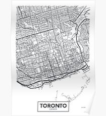 Vector poster map city Toronto Poster