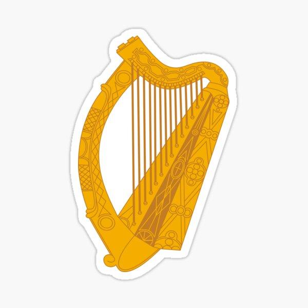 Irish harp Sticker