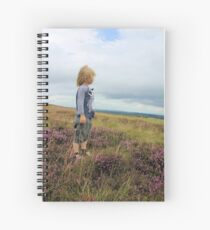 Looking out over the heather Spiral Notebook