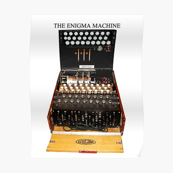 Secrets,  codes,  and the enigma machine  Poster