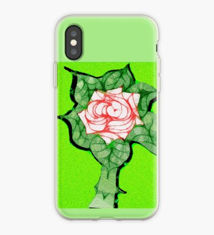 Scribblertoo Rose iPhone Case