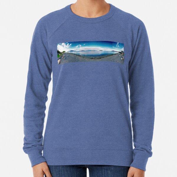 Guemes Shore (panorama) Lightweight Sweatshirt