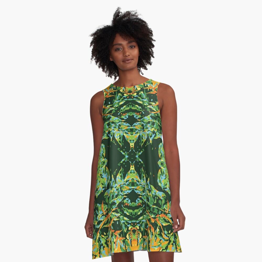 Tropic Totem A-Line Dress