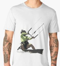 Going With The Wind Kiteboarding Vector Men's Premium T-Shirt