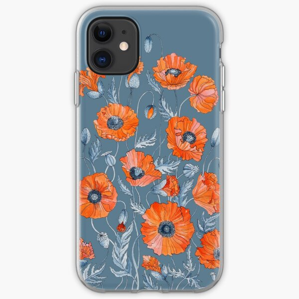 Poppies Floral Botanical art iPhone Soft Case
